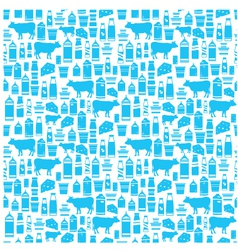 Seamless dairy products pattern vector