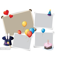 Birthday party photo frames vector
