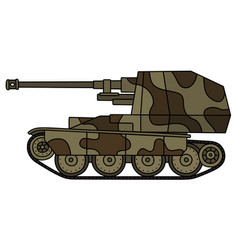 Classic self propelled gun vector