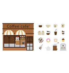 coffee restaurant and coffee icon vector image