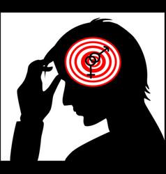 Interlocked gender sign in human head vector