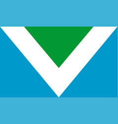 vegan flag vector image