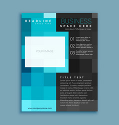 Creative blue square geometric business brochure vector