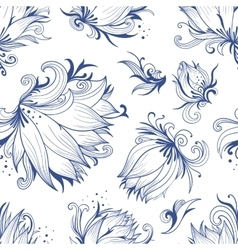 Lotus sketch pattern vector