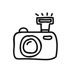 camera photography drawing isolated icon design vector image