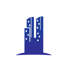 abstract skyscrapercity building logo vector image
