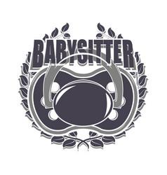 babysitter creative designe vector image vector image