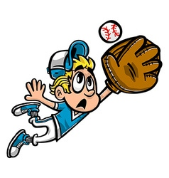 Baseball Player Kid cartoon vector image vector image