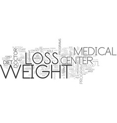 benefits of a medical weight loss center text vector image vector image