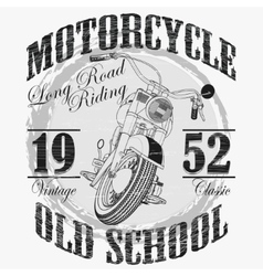 Biker fashion Typography Motorcycle sport emblem vector image vector image