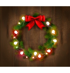 Christmas wreath template vector