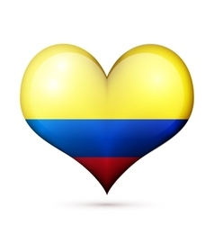 Colombia heart flag icon vector