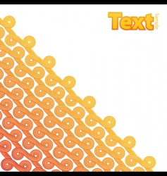 curly ribbons pattern corner design vector image vector image
