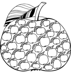 Decorative apple vector image vector image