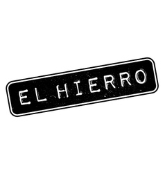 El hierro rubber stamp vector