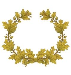 Gold oak wreaths vector
