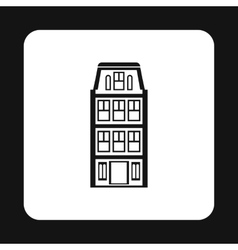 House icon in simple style vector image
