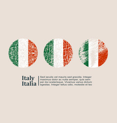 Italy flag design concept vector