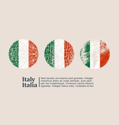 italy flag design concept vector image