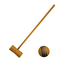 Mallet and ball croquet vector image vector image