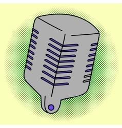 Microphone Pop art vector image