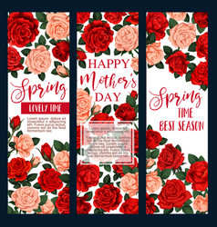 Mother day flower greeting card for spring holiday vector