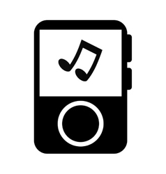 Music player portable icon vector