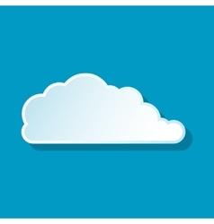 Rain cloud icon vector image