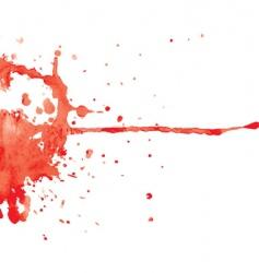Red ink blot vector