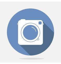 Retro camera blue icon vector