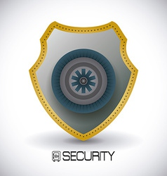 Secure box design vector