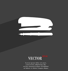 Stapler and pen symbol flat modern web design with vector