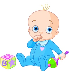 Sweet baby boy vector image vector image