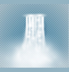 Waterfall isolated on transparent background vector