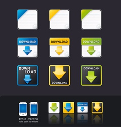 Apps icon set tablet mobile phone vector