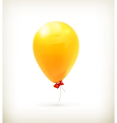 Yellow toy balloon vector image