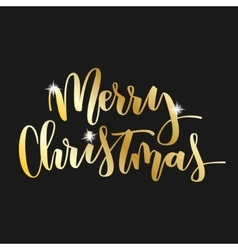 Merry christmas hand written inscription vector