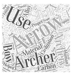 Archery arrows word cloud concept vector