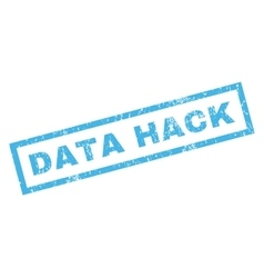 Data hack rubber stamp vector