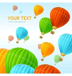 Air ballons background vector