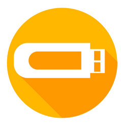 Usb or flash drive icon of set material design vector