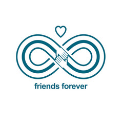 Infinite friendship friends forever special vector