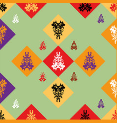Seamless pattern with decor vector