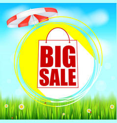 Summer selling ad banner big sale holiday vector