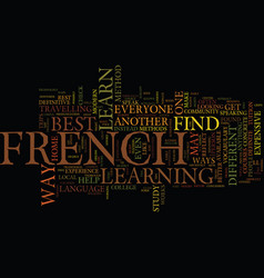 The best french advice text background word cloud vector