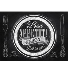 Bon appetit chalk vector
