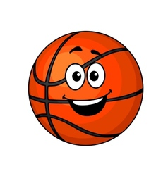 Cartoon happy basketball ball vector image
