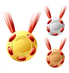 three medals vector image
