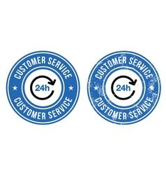 24h customer service retro badges vector image vector image