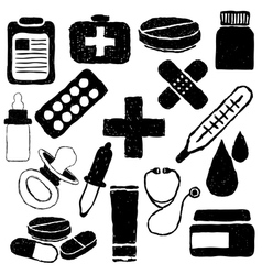 Pharmacy doodle images vector
